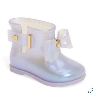 Iridescent Mini Melissa Rain Boots